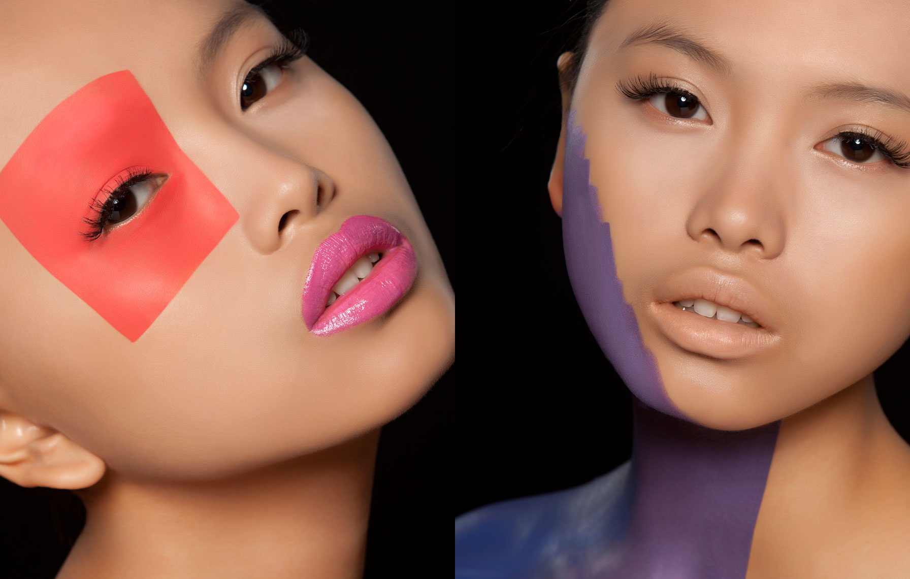 Color Block Beauty Editorial Photography, NYC