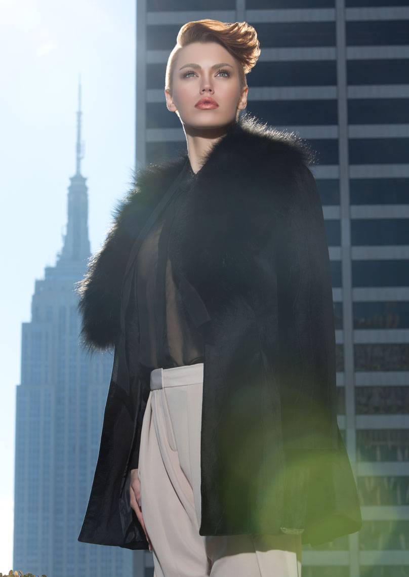Empire State Building, fashion photo shoot.